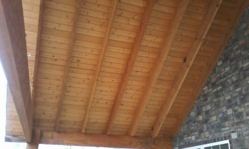 Plank Woodwork on Roof