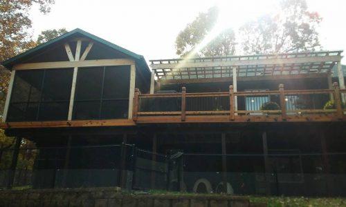 Custom Deck, Pergola, and Screened Porch